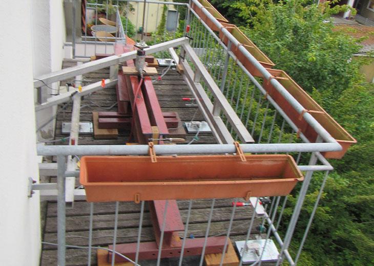 Balkon und Geländer